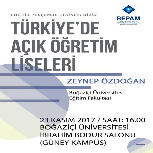 Politik Perşembe: Türkiye'de Açık Öğretim Liseleri